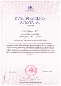 Malisa ir Ko kvalifikacijos atestatas