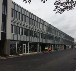 Baigiama pastato, Chemijos gatvėje, išorės apdaila